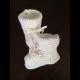 pletené papučky biele