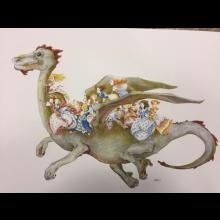 Ručne maľovaná kresba do detskej izby