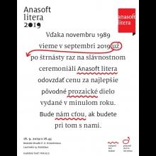 2 vstupenky na Slávnostný ceremoniál ANASOFT litera 2019 + kompletná knižná zbierka desiatky