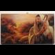 Obraz na dreve - Dobrý pastier - 26,5x15 cm