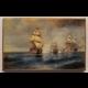 Obraz na dreve - Loď Mercury napadnutá dvoma tureckými loďami