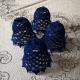 Hačkované zvončeky modré - sada 4 ks