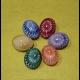 Háčkované kraslice - sada 6 ks