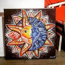 Mandala Slnko a Mesiac