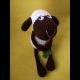 Háčkovaná ovečka so štvorlístkom