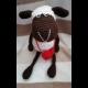 Háčkovaná ovečka so srdiečkom