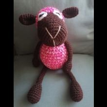 Háčkovaná ružová ovečka