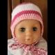 ružová čiapka - na obvod 41-43cm