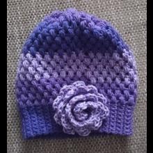 Zimná háčkovaná čiapka