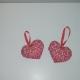 Srdiečko 2ks - dekorácia