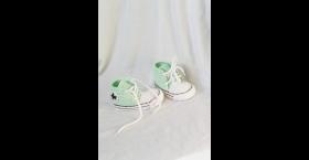 Pastelovo zelené papučky