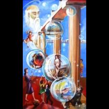 Originálna olejomaľba z dielne autora - Bublinový sen