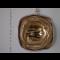 naušnice zlatá kocka