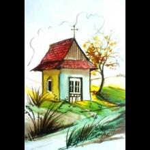 Aquarel - kaplnka