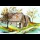 Aquarel: Vínne domčeky