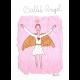 Originálny maľovaný Anjel Baletka na ručnom papieri