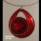 červený náhrdelník